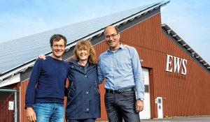 Moritz Winner, Susan Deutsch and Stefan Ebert manage day-to-day operations (left to right).