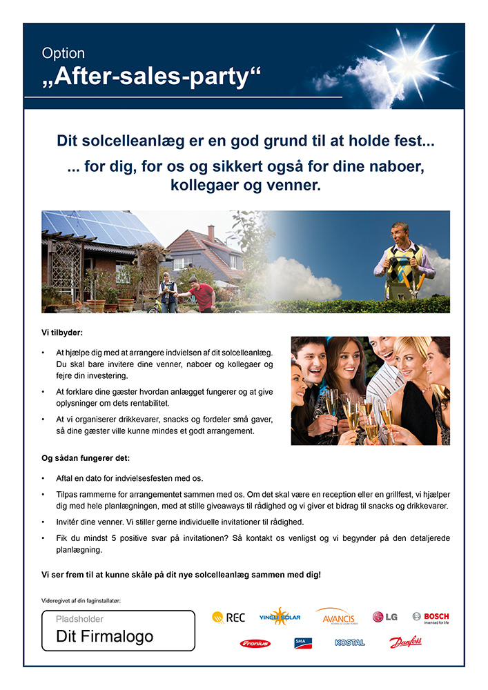 DK-Flyer: After-sales-party